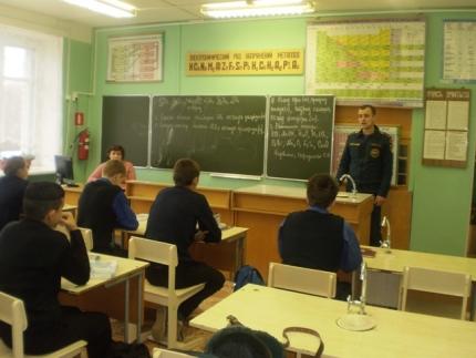 Беседа с учениками Хорошовской средней школы