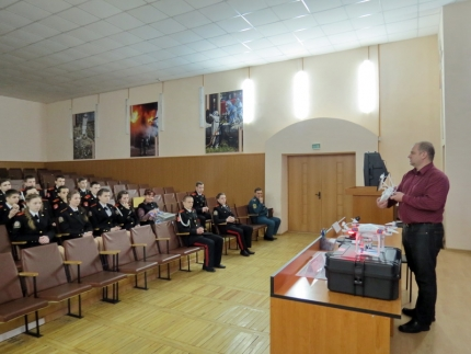День открытых дверей в Главном управлении МЧС России по Смоленской области для воспитанников кадетского корпуса