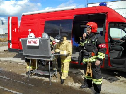 (29.03.19) В Десногорске прошло пожарно-тактическое учение