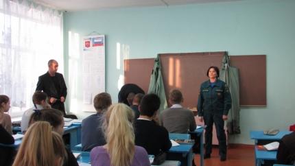 Заместитель начальника 51 пожарно-спасательной части провела «Урок безопасности» для десятиклассников Шумячской средней школы Смоленской области