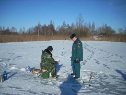 Прежде чем выйти на лед, убедитесь в его прочности!