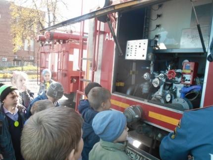 (25.10.2018) Внеклассное мероприятие в пожарно-спасательной части