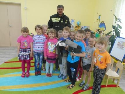 В Год пожарной охраны огнеборцы посетили детский сад «Ласточка»