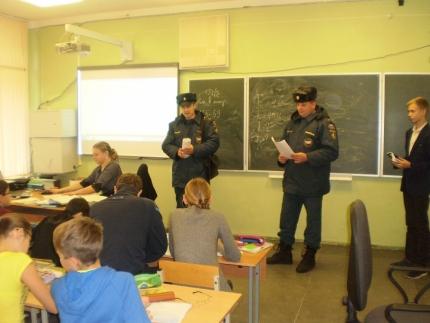 Во всех школах Рославльского района прошли открытые уроки по правилам пожарной безопасности