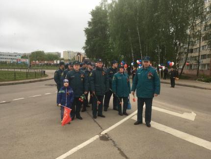 (14.05.19) Огнеборцы города Десногорска приняли участие в мероприятиях, посвященных Дню Победы