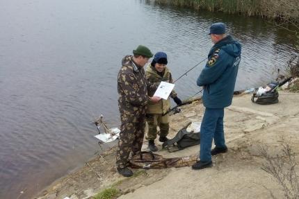 (08.04.19) Рыбаки под пристальным вниманием инспекторов ГИМС