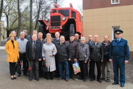 Митинг, посвященный годовщине образования Советской пожарной охраны
