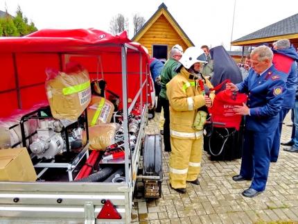 Техническое оснащение пожарного добровольчества монастырской обители (20.04.2018)