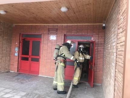 (15.12.18) Пожарно-тактические занятия в городе Ельня