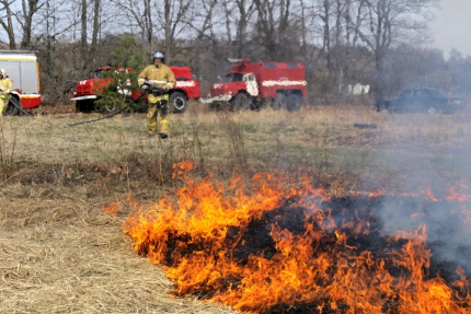 (18.04.19) На третьем этапе учений ликвидирована чрезвычайная ситуация, связанная с лесным пожаром