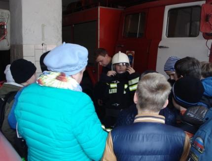 День открытых дверей в 20 пожарно-спасательной части (4.01.2017)