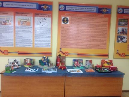В Центре противопожарной пропаганды открылась экспозиция детских работ представленных на конкурс «Мы первыми приходим на помощь»