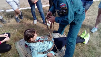 (13.07.2018) «Юные пожарные» перенимают опыт огнеборцев
