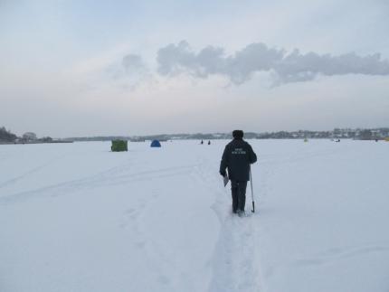 (31.01.19) Прежде чем отправиться на рыбалку, ознакомьтесь с толщиной льда нужного вам водоёма