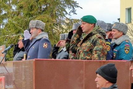 Начальник Главного управления МЧС России по Смоленской области принял участие в митинге в честь 94-й годовщины отряда «Меркурий»