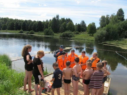 (12.08.2018)- Юным «Ласточкам» о безопасности на воде
