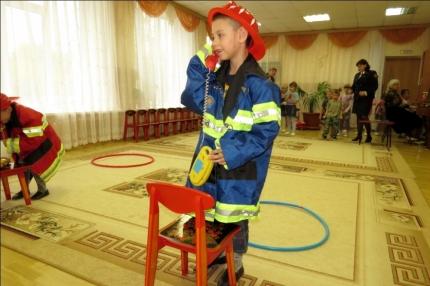 Пожарные старты для дошколят