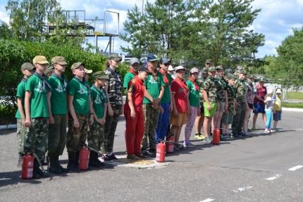 Военно-патриотический слёт «Отечество» в первой пожарно-спасательной части