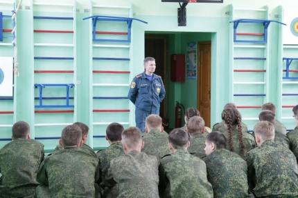 (04.10.2018) Открытый урок в Смоленском фельдмаршала Кутузова кадетском корпусе
