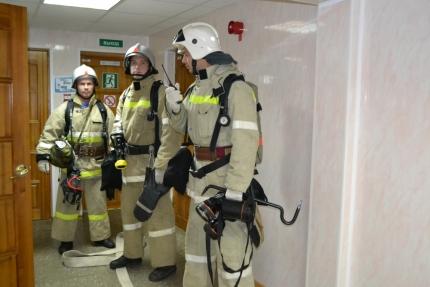 В Десногорске прошли пожарно-тактические занятия