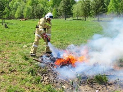 (18.07.2018) Работа подразделений добровольной пожарной охраны на территории Смоленской области