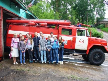 Дружина юных пожарных посетила пожарно-спасательную часть