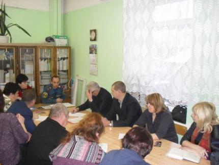 (16.12.18) Сотрудник МЧС России для руководителей образовательных учреждений провел инструктаж о мерах пожарной безопасности