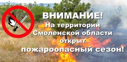 Лесопожарная служба Смоленской области информирует: в Смоленской области начинается пожароопасный сезон