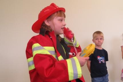 Пожарная эстафета в детском саду «Машенька»