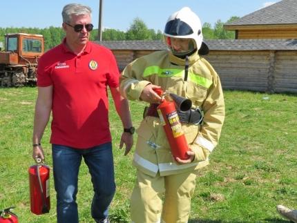 (14.08.2018) Работа подразделений добровольной пожарной охраны на территории Смоленской области
