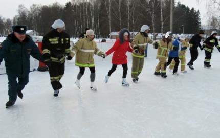 Катаясь на коньках, узнали о безопасности