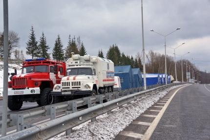 В мобильных пунктах обогрева готовы помочь водителям (8.01.2017)