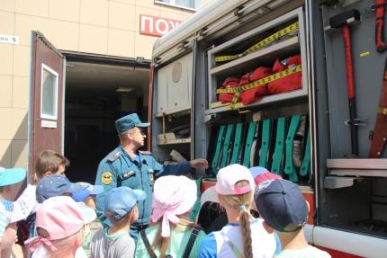 (29.06.19) Школьникам о профессии пожарного