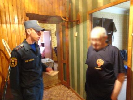 (07.09.19) Пожарная профилактика в местах жительства одиноких пенсионеров