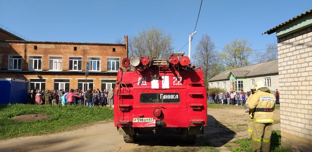 (17.05.19) Глинковские огнеборцы в гостях у школьников
