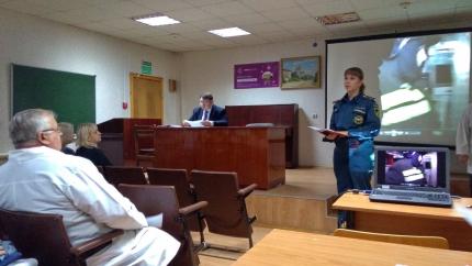 (18.10.19) В Смоленском областном онкологическом клиническом диспансере состоялось занятие с медицинским персоналом
