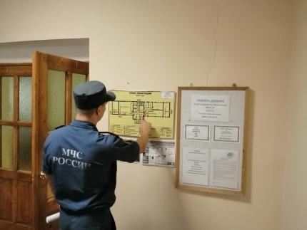 (14.08.2019) Проверки соблюдения требований пожарной безопасности на избирательных участках
