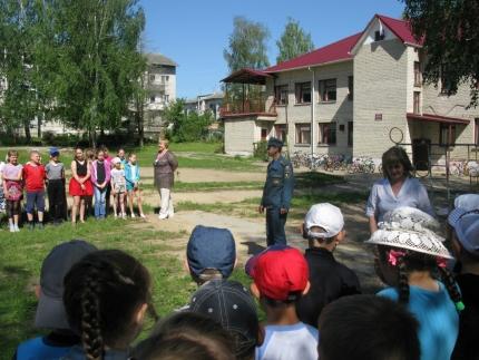 «День безопасности» в Ершичском детском оздоровительном лагере