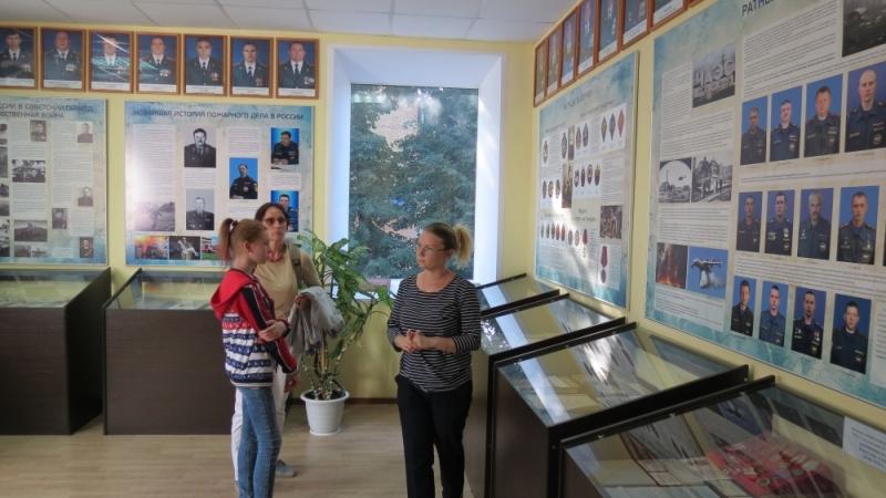 (24.08.2018) Гости из соседней области в музее пожарных - спасателей