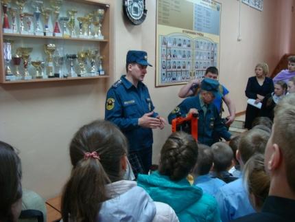 Школьникам Вязьмы о профессии пожарного