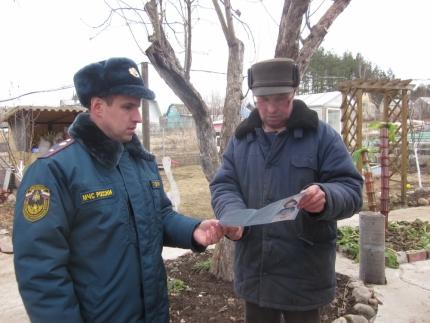 Ярцевские пожарные провели рейд по дачам (20.03.2017)