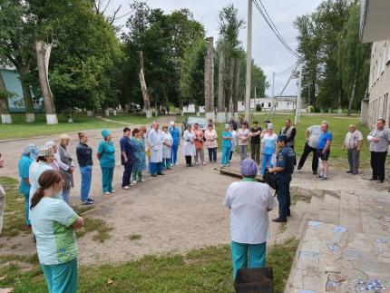 (04.08.2019) В Рославльской районной больнице прошла учебная эвакуация