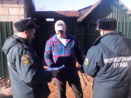Профилактический противопожарный рейд в городе Рославле (5.03.2017)