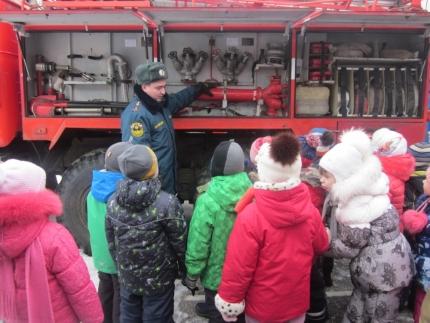 С дошколятами о пожарной безопасности в весенний период
