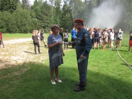 (23.08.2018) «День безопасности» в детском лагере «Орлёнок»