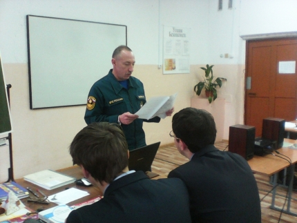 Сотрудники пожарной охраны проводят открытые уроки по пожарной безопасности