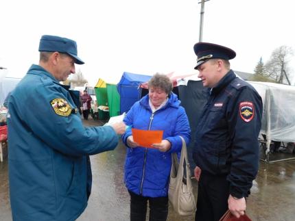 (15.10.19) В рамках месячника гражданской обороны жителям села Темкино напомнили правила поведения