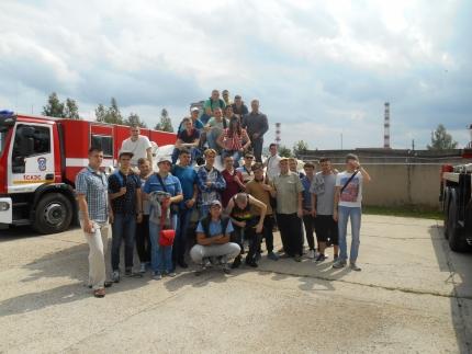 Ребята из братской Республики Беларусь в первой пожарно-спасательной части