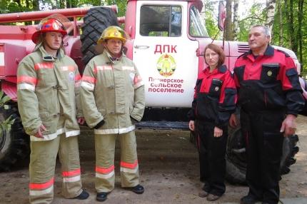 (08.05.2018) Работа подразделений добровольной пожарной охраны на территории Смоленской области