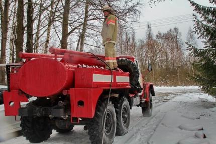(29.01.19) Работа подразделений добровольной пожарной охраны на территории Смоленской области